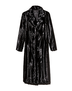 Unreal Fur Velvet Underground Long Faux Fur Coat