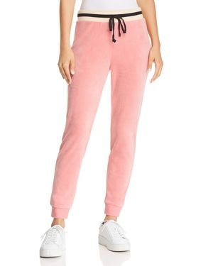 JUICY COUTURE BLACK LABEL Luxe Velour Sweatpants in Blush