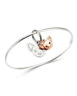 Dodo - Sterling Silver Chihuahua Charm Bangle Bracelet