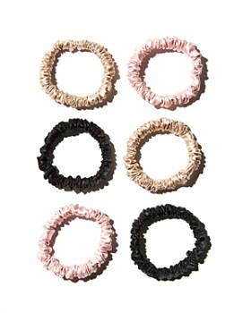 slip - Silk Skinny Scrunchies, Set of 6