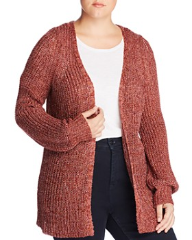 JUNAROSE Plus - Quandra Metallic Chunky Open Cardigan