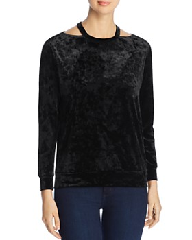 Coin - Crushed Velvet Cutout Top