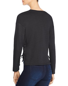 Coin - Lace-Up French Terry Top