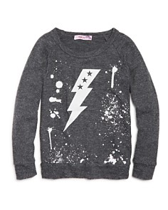 Play Six - Girls' Knit Lightning Top with Back Cutout - Little Kid