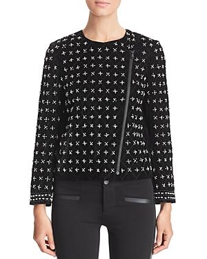 Kobi Halperin Lavinia Beaded Velvet Jacket