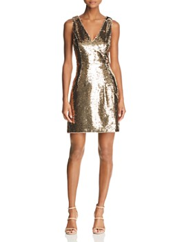 Aidan by Aidan Mattox - Sequined Cocktail Dress