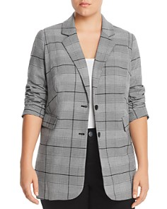 VINCE CAMUTO Plus - Bold Glen Plaid Blazer