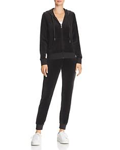 Juicy Couture Black Label - Gothic-Logo Velour Sweatpants