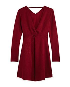 Miss Behave - Girls' Estelle Knit Shimmer Dress - Big Kid