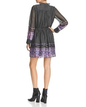 AQUA - Long-Sleeve Border-Print Dress - 100% Exclusive
