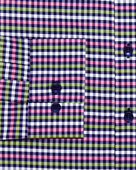 Vardama - Vaux Gingham Regular Fit Dress Shirt