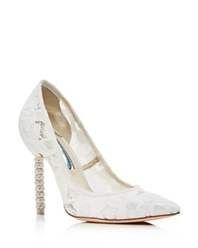 Sophia Webster - Women's Coco Crystal 100 Pointed-Toe Pumps