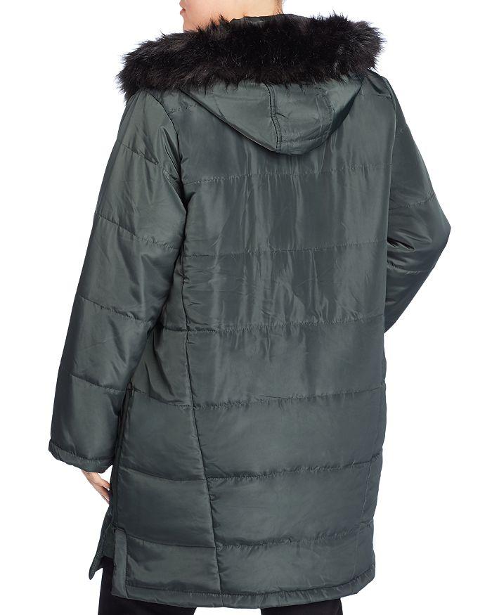 c088228e9f5c3 Lost Ink Plus - Faux Fur Trim Puffer Coat