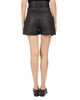 The Kooples - Western Belted Leather Shorts