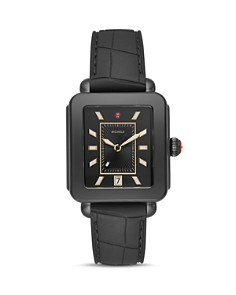 MICHELE - Deco Sport Black Watch, 34mm x 36mm