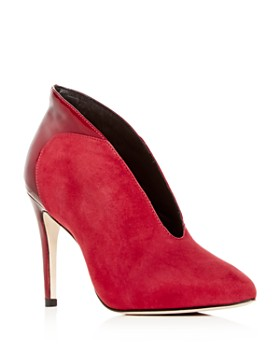 Joan Oloff - Women's Dorsey Suede & Patent Leather Pointed-Toe Pumps