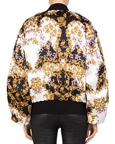 The Kooples - Baroque Silk Bomber Jacket