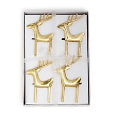 Aman Imports - Reindeer Napkin Rings, Set of 4 - 100% Exclusive