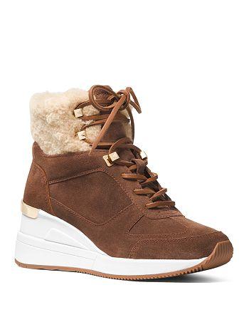 2c9d0f4c9202a MICHAEL Michael Kors Women s Scout Fur Trim Weatherproof Booties ...