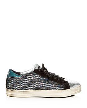 P448 - Women's John Glitter Mesh & Suede Lace Up Sneakers