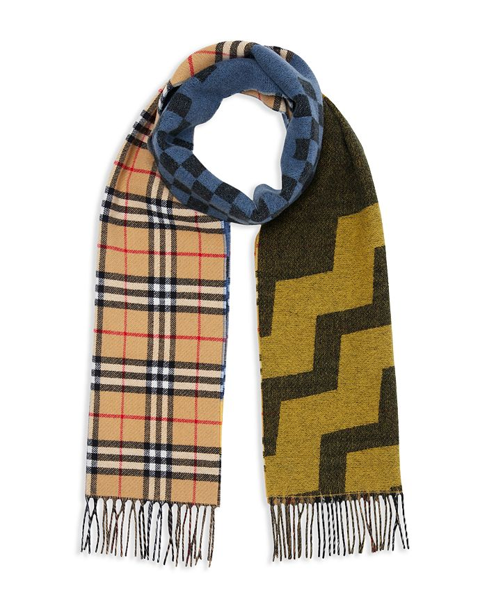 aa4ed596b3002a Burberry - Vintage Check Color-Block Scarf