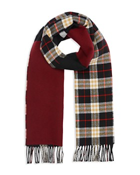 Burberry - Stripe-Accented Color-Block Scarf