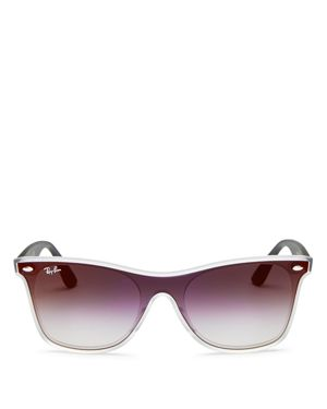 Ray-Ban Men's Mirrored Shield Wayfarer Sunglasses, 41mm