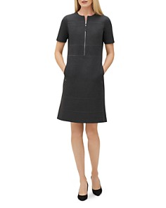 Lafayette 148 New York - Demi Partial-Zip Paneled Dress
