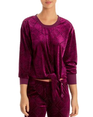 Midnight Bakery Geo Burnout-Velvet Top