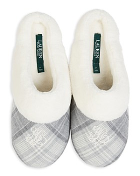 Ralph Lauren -  Embroidered Cuffed Slippers