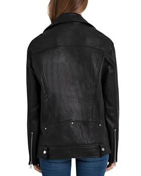 BAGATELLE.NYC - Oversized Leather Moto Jacket