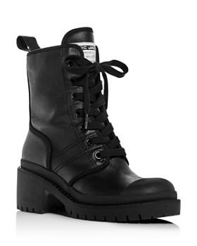 MARC JACOBS - Women's Bristol Block-Heel Combat Boots