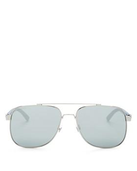 c8bd2c2623 Gucci - Men s Mirrored Brow Bar Aviator Sunglasses