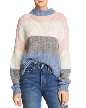 Kendall Colorblock Pullover Sweater in Blue Multi