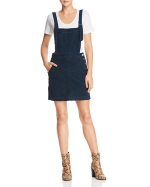 Jacs Corduroy Overall Pinafore Dress in Sulfur Blue Vault