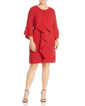 Adrianna Papell Plus - Cascading Ruffle Dress