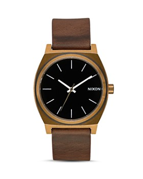 Nixon - Time Teller Brown Leather Watch, 37mm