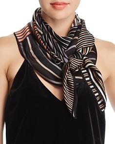 Echo - Striped Patchwork-Print Silk Scarf - 100% Exclusive