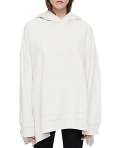 ALLSAINTS - Harmon Handkerchief-Hem Hooded Sweatshirt