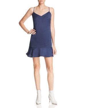 LUCY PARIS Flounce-Hem Slip Dress - 100% Exclusive in Navy