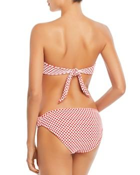 Shoshanna - Knot Front Bandeau Bikini Top & Side Knotted Bikini Bottom