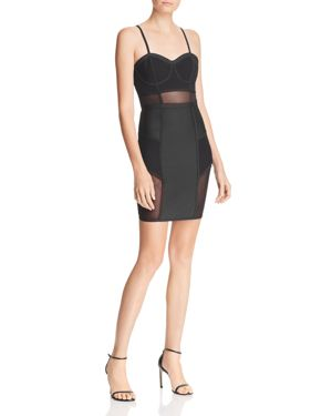Wow Couture Mesh-Inset Bustier Dress - 100% Exclusive