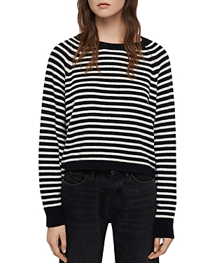 Allsaints MARCEL STRIPED CROPPED SWEATER
