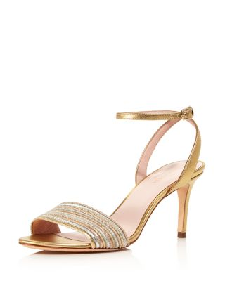 Women's Jasmyne Metallic Leather High Heel Sandals by Kate Spade New York