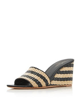 kate spade new york - kate spade new york Women s Linda Striped Wedge  Sandals ... 618f2aad3324