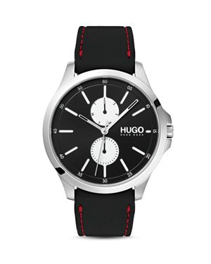 HUGO Silicone Strap Watch, 41Mm in Black