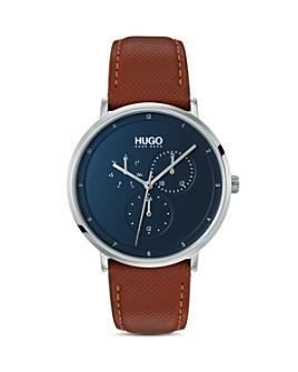 HUGO - #GUIDE Brown & Blue Watch, 40mm