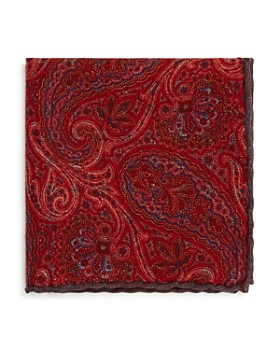 The Men's Store at Bloomingdale's - Medallion Paisley Reversible Wool Pocket Square