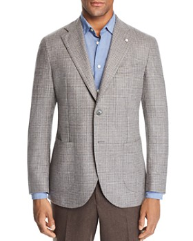 L.B.M - Small-Check Slim Fit Sport Coat