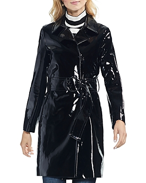 Vince Camuto Patent Belted Coat